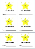 Star of the Day/Week Cards