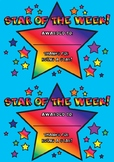 Star of the Week Achievement Award