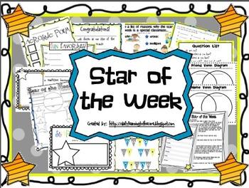 Star of the Week Activities