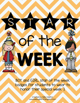 Star of the Week Badges