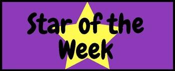Star of the Week Bulletin Board Headings