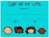 Star of the Week Certificate