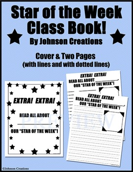 Star of the Week Class Book