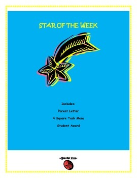 Star of the Week - Community Building for Many Levels/ Beginning of the Year