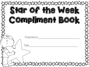 Star of the Week Compliment Book