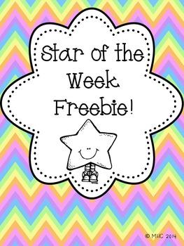 Star of the Week Freebie