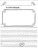 Star of the Week Friendship book page template