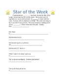 Star of the Week Girl