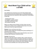 Star of the Week Letter