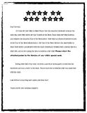 Star of the Week Letter to Parents