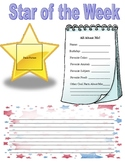 Star of the Week Letter/Poster