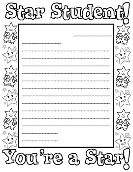 """Star of the Week"" Letterhead"
