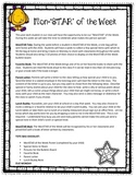 Star of the Week - Monster Themed