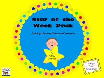Star of the Week Pack - Building A Classroom Community For