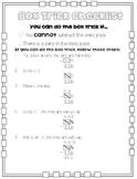 Subtracting Across Zeros Box Trick