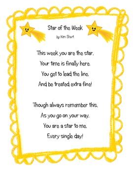 Star of the Week Poem 2