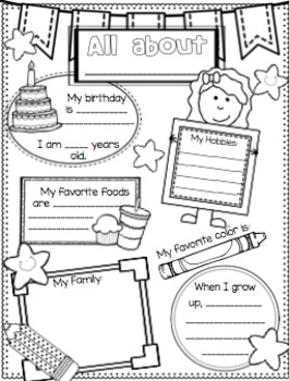 Star of the Week/All About ME! Poster Set {4 Poster Choices!}