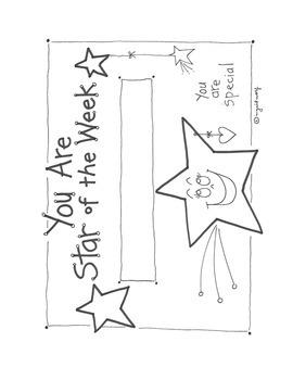 Star of the Week Printable