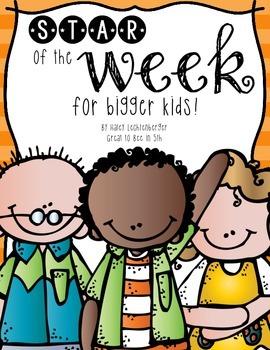 Star of the Week Printables for Bigger Kids!