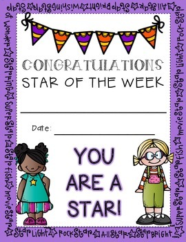 Star of the Week Resource Packet
