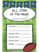 All Star of the Week - Sports or Football Themed!: EDITABLE!!!
