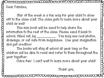 Star of the Week Student Booklets
