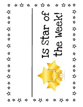 Star of the Week - Student of the Week Poster Set
