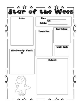 Star of the Week Template