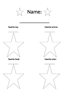 Star of the Week Worksheet