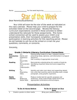 Star of the Week for Grade 3