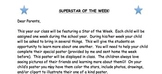 Star of the Week - parent letter and outline