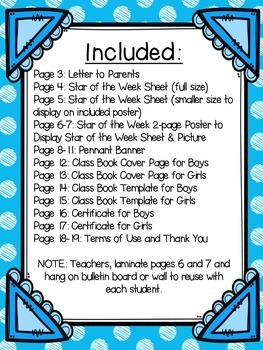 Star Of The Week With Editable Parent Letter By Third In