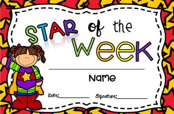 Star of the week (Diploma)