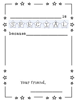 """Star of the week """"___is special because"""" (English and Spanish)"""