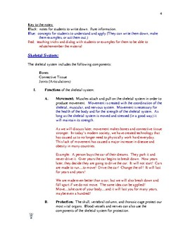 Anatomy Notes for Skeletal:  Star's Notes Skeletal & Joint Module