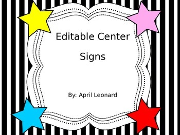 Star theme center signs