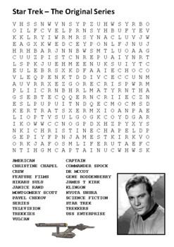 Star trek – The Original Series  Word Search