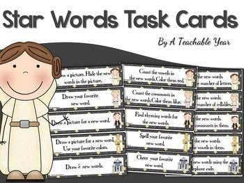 Star Words! 75 Task Cards