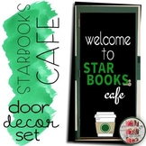 Starbooks Cafe Door Decoration Set Book Tasting Decor Welcome To Starbooks Cafe