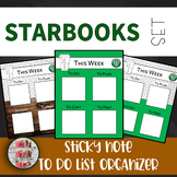 Starbooks Themed Sticky Note Organizer To Do List Post-it List (freebie)