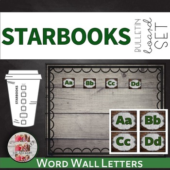 Starbooks Themed Word Wall Letters Bulletin Board Set