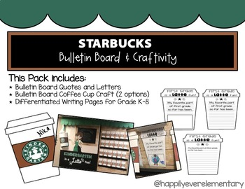 Starbucks Bulletin Board Pack