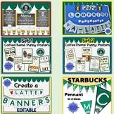 Starbucks Coffee Shop Theme Decor and Bulletin Boards BUNDLE