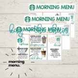 Starbucks Coffee Theme Morning Menu + Choice Board