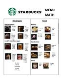 Starbucks Menu Math