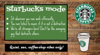 Starbucks Mode Powerpoint Slide (Editable)