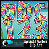 Bulletin Board Letters and Numbers Clip Art