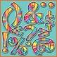 Alphabet Letters Clip Art (Large Starburst)