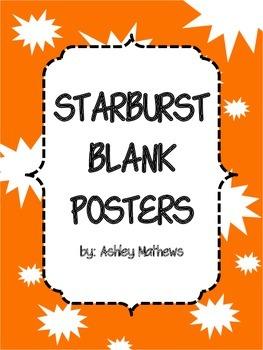 Starburst Border Posters