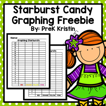 Starburst Candy Graphing Freebie
